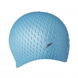 Speedo Swim Bubble Cap Unisex Blue Silicone Long Lasting Hair Protection