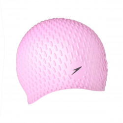 Speedo Swim Bubble Cap Unisex Pink Silicone Long Lasting Hair Protection