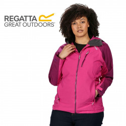 Regatta Womens Birchdale Waterproof Breathable Jacket RWW300 Vivid Viola Winberry