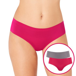 Sloggi Womens mOve Hipster Sports Briefs 2 Pack Grey/Pink M020