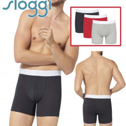 Sloggi Mens Go Boxer Shorts 3 Pack M006 Red Multi
