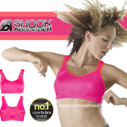 Shock Absorber Multi Sports Maximum Support Bra Pink/Coral New Sizes 32-40 B-HH