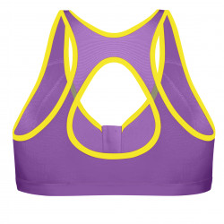 Shock Absorber Active Zipped Plunge Sports Bra Purple/Yellow New Sizes 32-38 B-DD