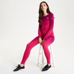 Dare2b Womens In The Zone Performance Base Layer Set DWU340 Cyber Pink