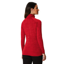 Regatta Womens Yonder Fleece Zipped Neck Top Tibetan Red