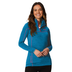 Regatta Womens Yonder Fleece Zipped Neck Top Blue Reef