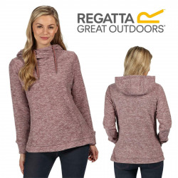 Regatta Womens Kizmit II Hooded Marl Fleece Jumper RWA294 Dusky Heather Kimberley Walsh