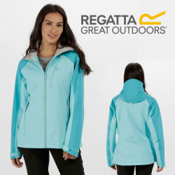 Regatta Womens Birchdale Waterproof Breathable Jacket RWW300 Horizon/Aqua