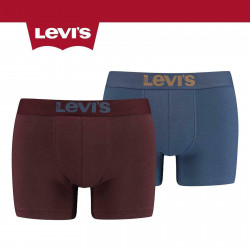 Levis 200SF Solid Basic Boxer Short Briefs 2 Pack Bordeaux