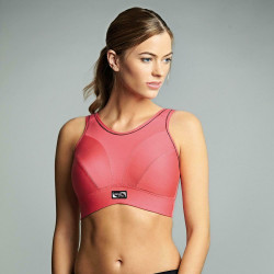 Royce Womens Impact Free Non Wired Sports Bra Coral
