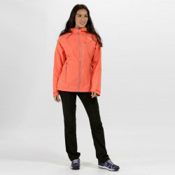 Regatta Womens Birchdale Waterproof Breathable Jacket RWW300 Neon Peach