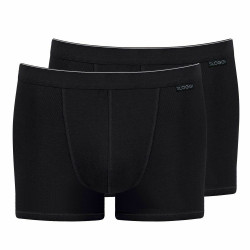Sloggi Mens Classic Natural Cotton Boxer Shorts 2 Pack Black M L XL 2XL