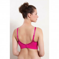 Royce Womens Impact Free Non Wired Sports Bra Pink